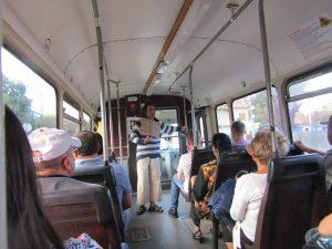 cerșetor tramvai