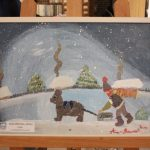 Tablouri de iarnă realizate de copii expuse la Biblioteca Județeană de la Bastion (3)
