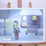 Tablouri de iarnă realizate de copii expuse la Biblioteca Județeană de la Bastion (8)
