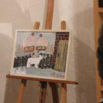 Tablouri de iarnă realizate de copii expuse la Biblioteca Județeană de la Bastion (9)