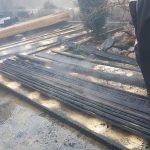 ISU Timiş a fost solicitat să intervină pentru lichidarea unui incendiu la anexele unei locuințe, din localitatea Mănăştiur (5)