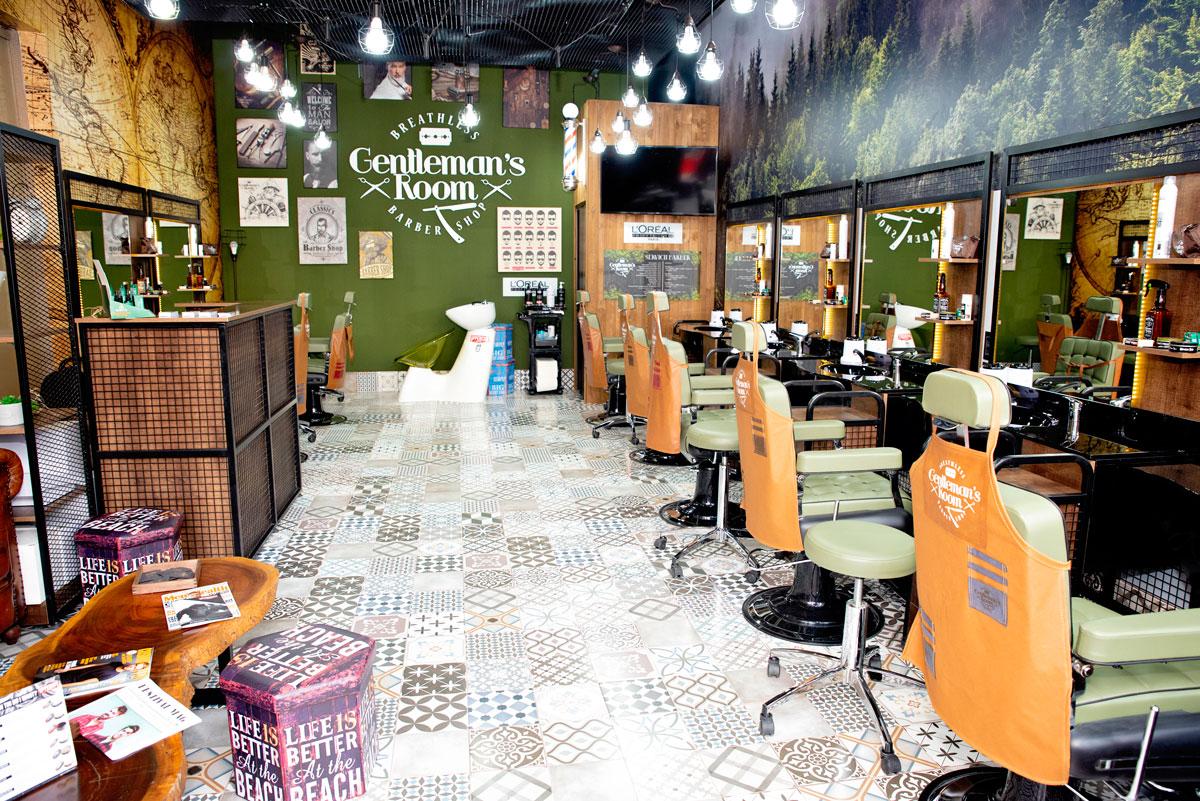 Un Barber Shop Cu Servicii Premium Pentru Bărbați în Ansamblul
