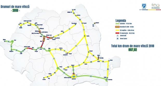 Harta Autostrăzilor Din Romania Pe Ce Rute Noi Vom Circula In
